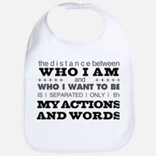 My Actions and Words Grey/Black Bib