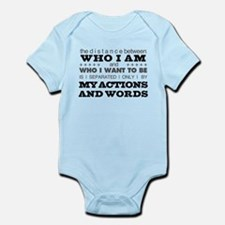 My Actions and Words Grey/Black Infant Bodysuit
