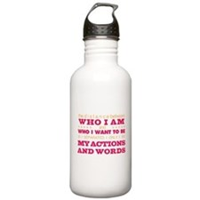 My Actions and Words Pink/Orange Water Bottle