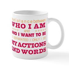 My Actions and Words Pink/Orange Mug