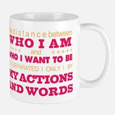 My Actions and Words Pink/Orange Mug