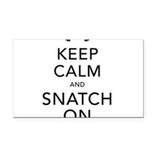 Keep Calm and Snatch On Black Rectangle Car Magnet