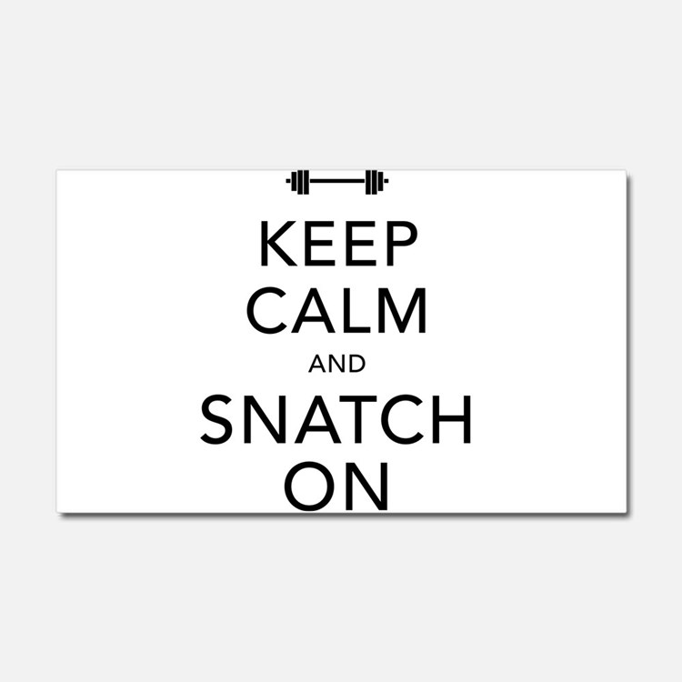 Keep Calm and Snatch On Black Car Magnet 20 x 12