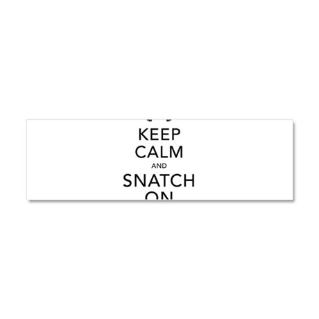 Keep Calm and Snatch On Black Car Magnet 10 x 3