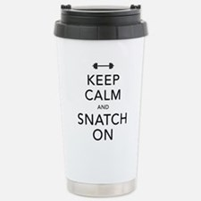 Keep Calm and Snatch On Black Travel Mug