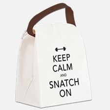 Keep Calm and Snatch On Black Canvas Lunch Bag