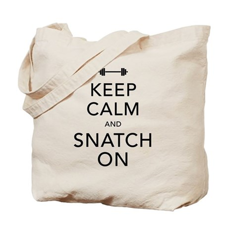 Keep Calm and Snatch On Black Tote Bag