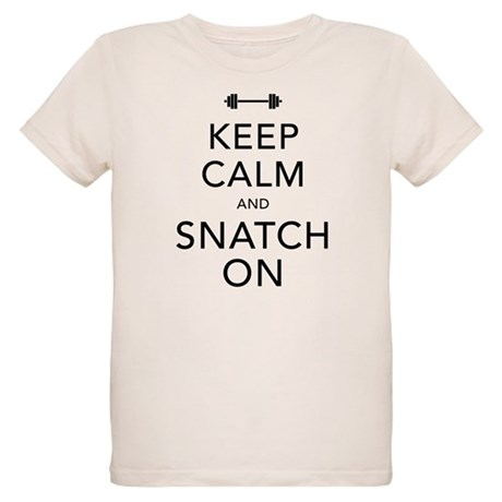 Keep Calm and Snatch On Black Organic Kids T-Shirt
