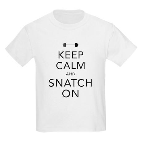 Keep Calm and Snatch On Black Kids Light T-Shirt