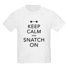Keep Calm and Snatch On Black T-Shirt