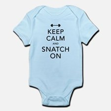 Keep Calm and Snatch On Black Infant Bodysuit