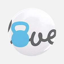 """Love Kettlebell Blue 3.5"""" Button"""