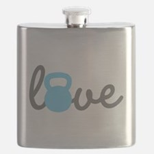 Love Kettlebell Blue Flask