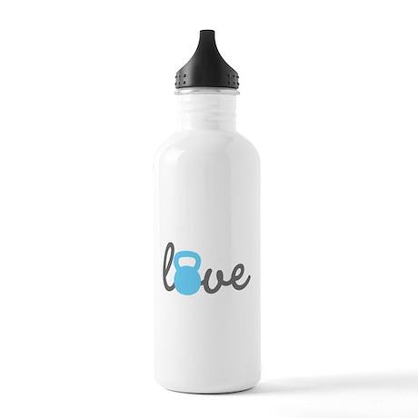 Love Kettlebell Blue Stainless Water Bottle 1.0L