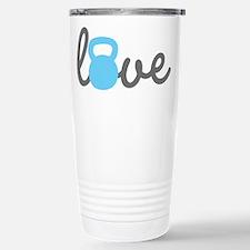 Love Kettlebell Blue Travel Mug