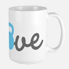 Love Kettlebell Blue Ceramic Mugs