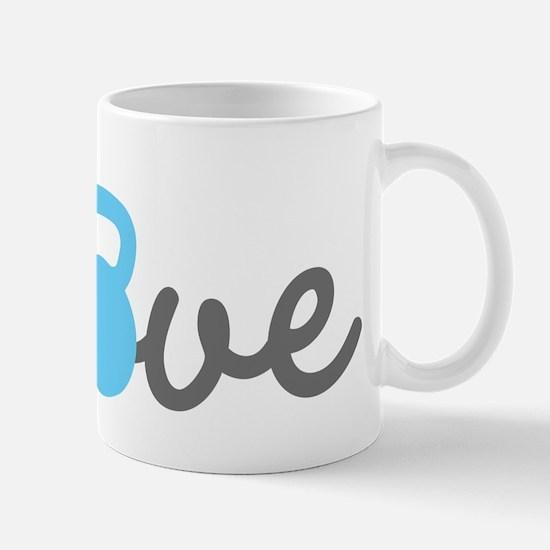 Love Kettlebell Blue Mug