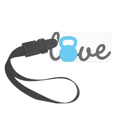 Love Kettlebell Blue Small Luggage Tag