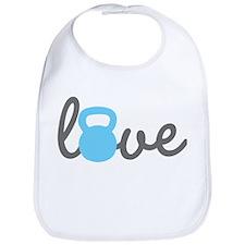 Love Kettlebell Blue Bib