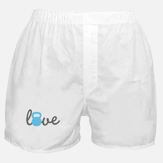 Love Kettlebell Blue Boxer Shorts