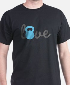 Love Kettlebell Blue T-Shirt