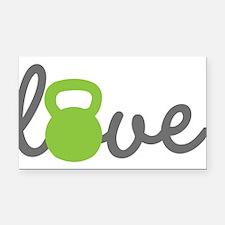 Love Kettlebell Green Rectangle Car Magnet