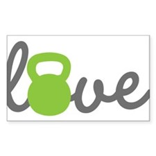 Love Kettlebell Green Decal