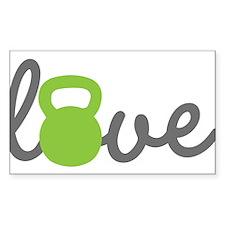 Love Kettlebell Green Stickers