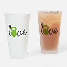 Love Kettlebell Green Drinking Glass
