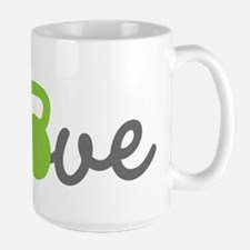 Love Kettlebell Green Ceramic Mugs