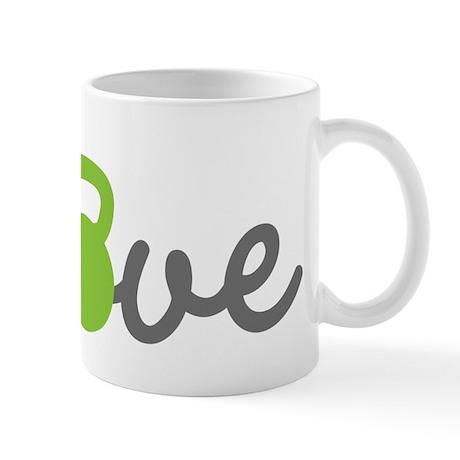 Love Kettlebell Green Mug