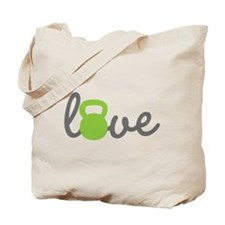 Love Kettlebell Green Tote Bag