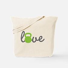Love Kettlebell Green Tote Bag