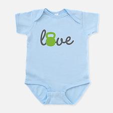 Love Kettlebell Green Infant Bodysuit