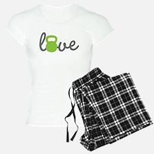 Love Kettlebell Green Pajamas