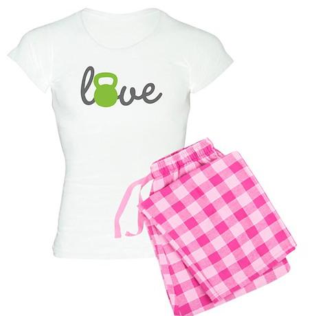 Love Kettlebell Green Women's Light Pajamas