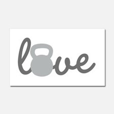 Love Kettlebell Grey Car Magnet 20 x 12