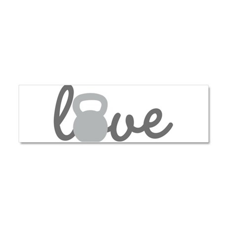 Love Kettlebell Grey Car Magnet 10 x 3