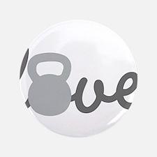 """Love Kettlebell Grey 3.5"""" Button"""