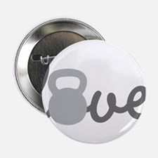 "Love Kettlebell Grey 2.25"" Button"