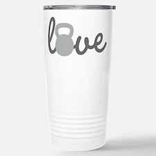 Love Kettlebell Grey Travel Mug
