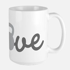 Love Kettlebell Grey Ceramic Mugs