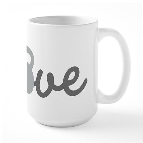Love Kettlebell Grey Large Mug