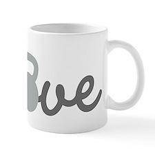 Love Kettlebell Grey Small Mugs