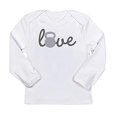 Love Kettlebell Grey Long Sleeve Infant T-Shirt