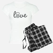 Love Kettlebell Grey Pajamas