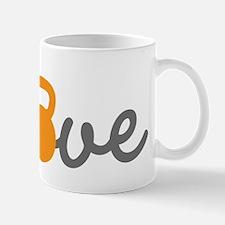Love Kettlebell in Orange Small Mugs
