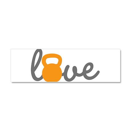Love Kettlebell in Orange Car Magnet 10 x 3
