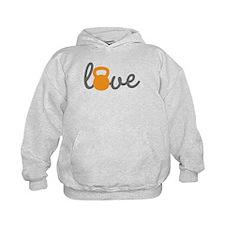 Love Kettlebell in Orange Hoodie