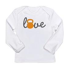 Love Kettlebell in Orange Long Sleeve Infant T-Shi